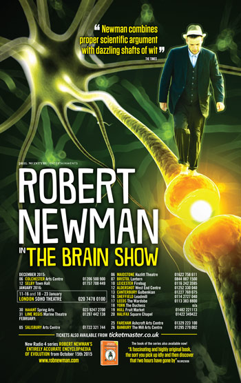 Robert Newman's The Brain Show targets the failings of neuroscience