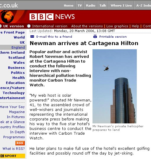 Newman arrives at Cartagena Hilton